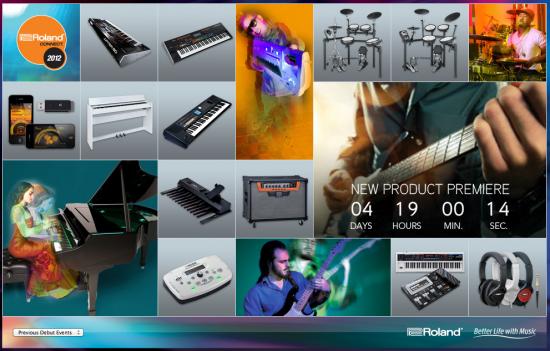 2012年8月31日9:00にローランド 新製品発表か!?