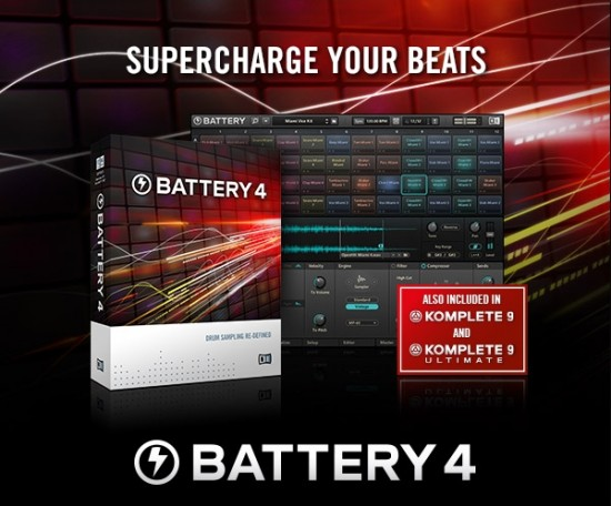 Native Instruments ソフトサンプラー BATTERY4が単品購入可能に!