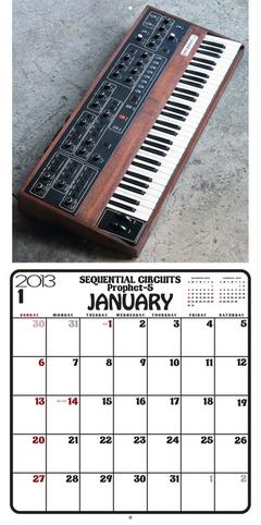 カレンダー「ビンテージ・シンセサイザー 2013年版」