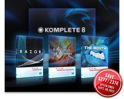 KOMPLETE 8にステップアップして3つの高級インストゥルメントを無償でゲット!