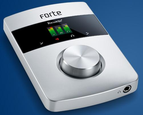 Focuriteより小型オーディオインターフェース「forte」が発表されました!