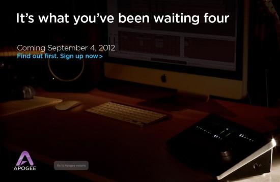 APOGEEが2012年9月4日に新しいオーディオインターフェースを発表か!?