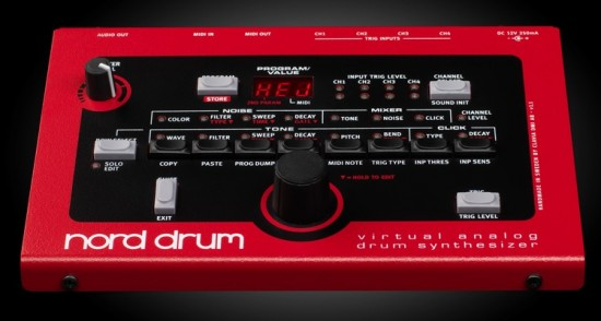 Clavia Nord Drum virtual analog drum synthesizer