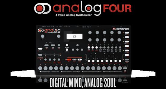 Elektronが4ボイスアナログシンセサイザーの新製品「Analog Four」を発売!