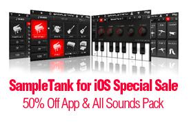 期間限定:IK Multimedia SampleTank for iPhone/iPadが50% OFF!