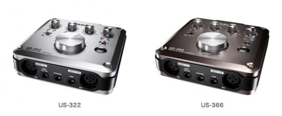 TASCAM 2つのオーディオインターフェース「US-322」「US-366」発売!