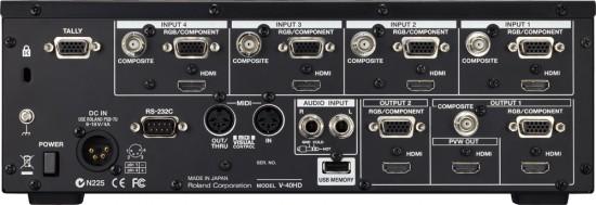 Roland マルチフォーマット・ビデオスイッチャー「V-40HD」発売!