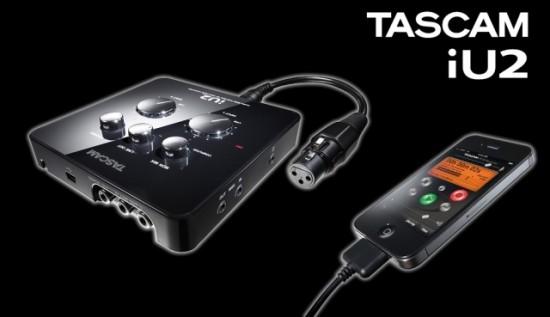 TascamがiPhone/iPad/iPod touch用オーディオ/MIDIインターフェース「iU2」を発売!