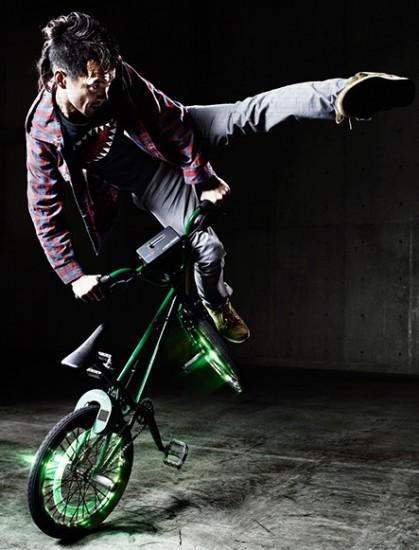 BMXをMIDIコントローラーにする「Turntable Rider」
