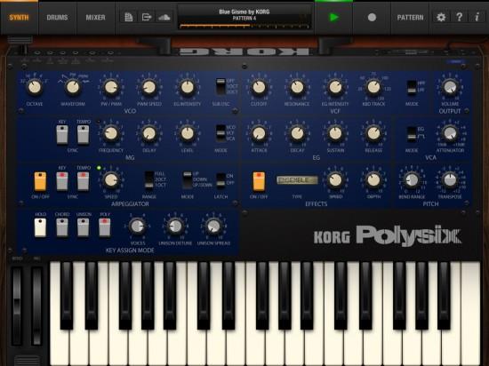 KORG ポリフォニック・シンセサイザー「iPolysix for iPad」を発売!