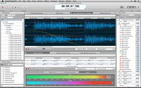 Sony Creative Software Mac OS X向けに一から設計したSound Forge Pro Mac発売!