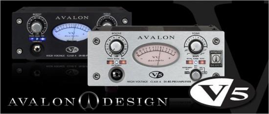 AVALON DESIGNからマイク/ライン・プリアンプ+ D.I. + リアンプ「V5」が発表されました!